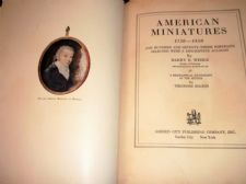 VINTAGE 1937 HB BOOK AMERICAN MINIATURES 1730 - 1850 HARRY B WEHLE 173 PORTRAITS
